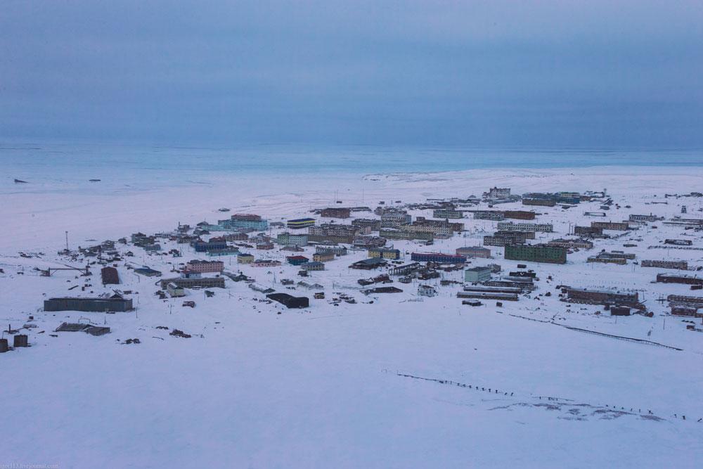 Поселок Амдерма с воздуха