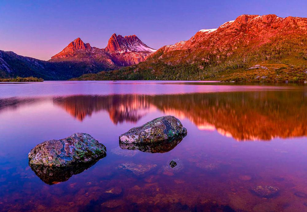 Австралия. Голубиное озеро, Тасмания