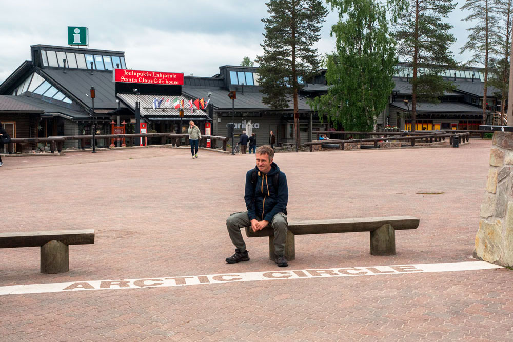 The Arctic Circle in the village of Santa Claus, Rovaniemi, Finland