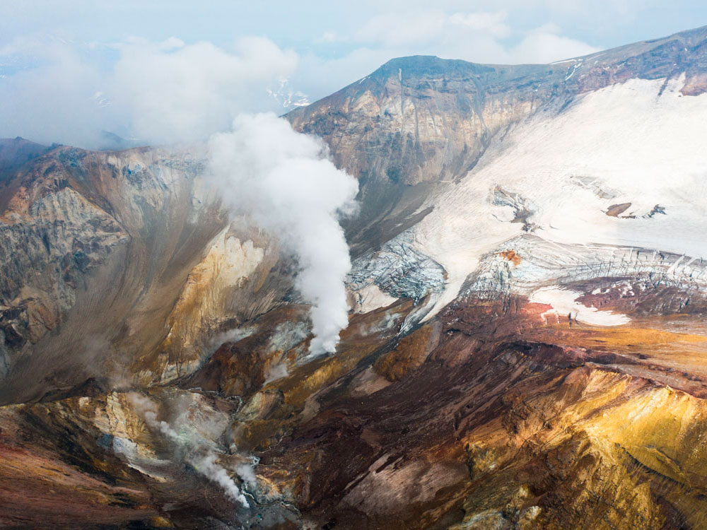 Активные вулканы и термальные источники Камчатки
