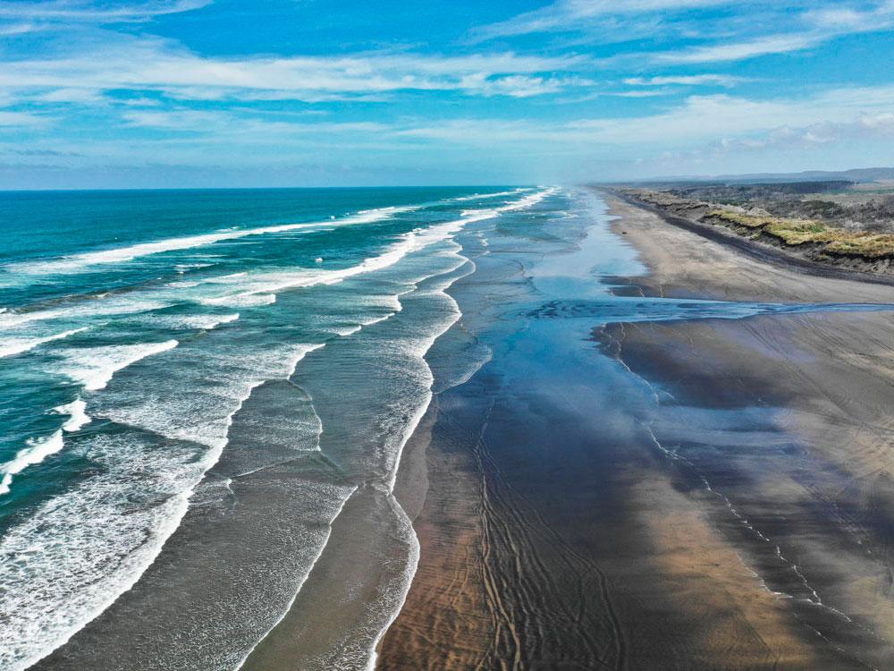 Пляж Муривай.Новая Зеландия