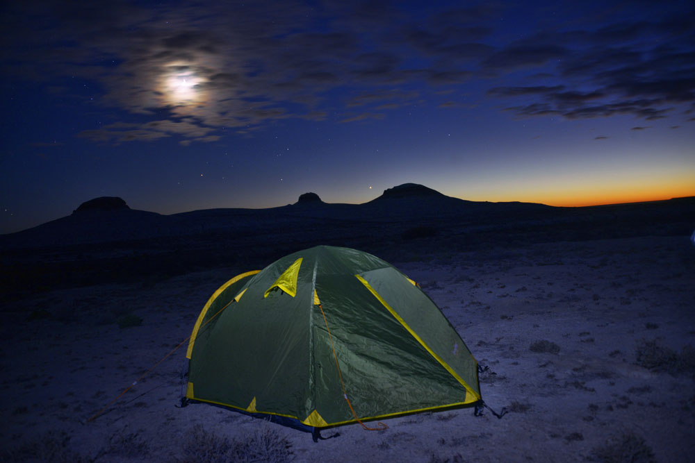 Overnight in the steppe