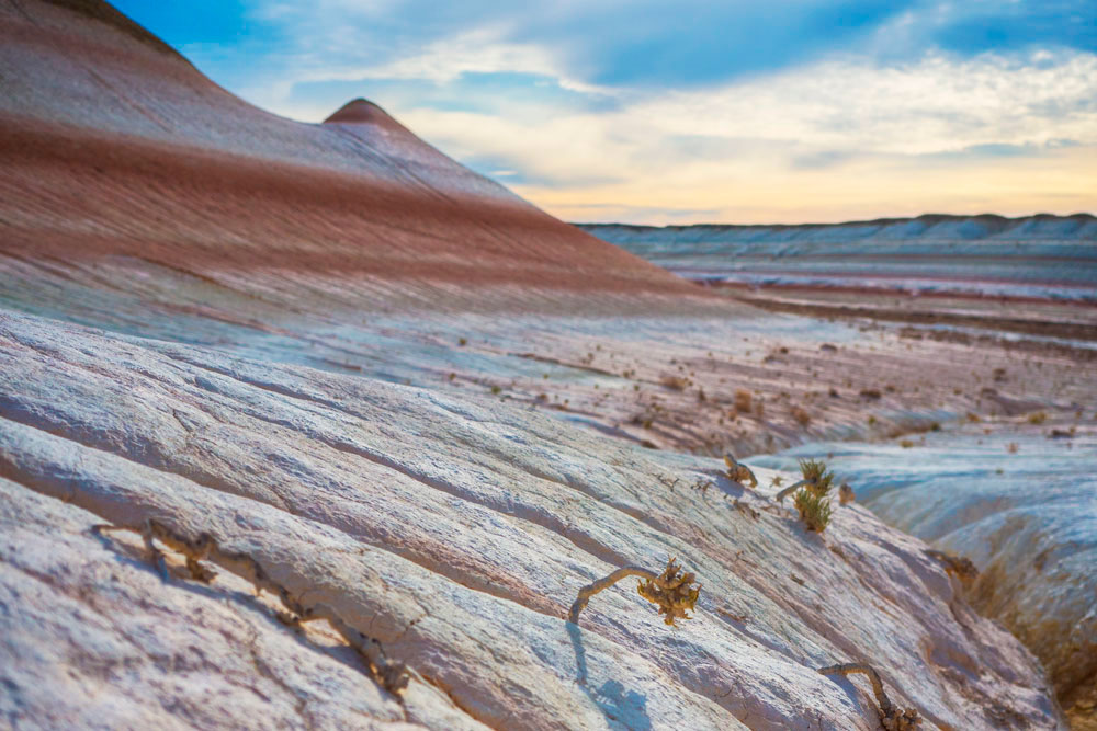 Colorful Ustyurt mountains