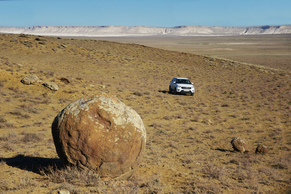 Stone balls of the Mangyshlak peninsula