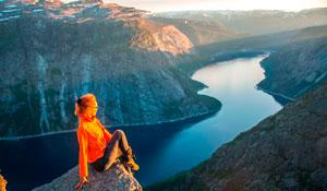 Auto hiking tour to Norway