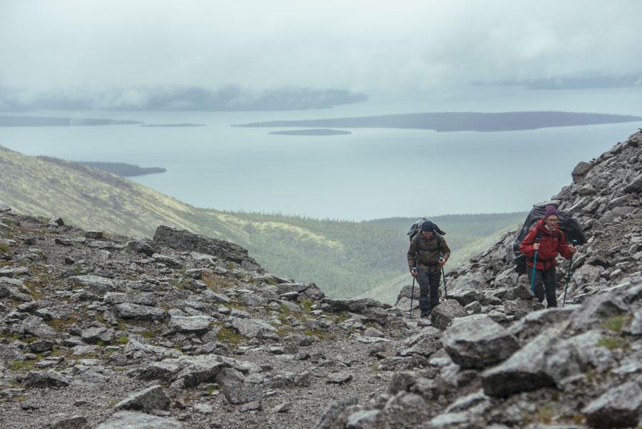 Вид на озеро Имандра с Хибин